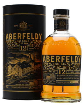 Aberfeldy Scotch Whiskey 12 botella